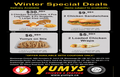 Yumys Chicken & Seafood - Winter special deals
